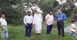 বেগমগঞ্জ ইউএনও'র সরকারী বীজতলা পরিদর্শন
