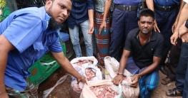 বেগমগঞ্জে দোকানে বসেই পচা মাংস বিক্রি