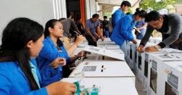 ইন্দোনেশিয়ায় প্রেসিডেন্ট ও সংসদ নির্বাচনে ভোট চলছে