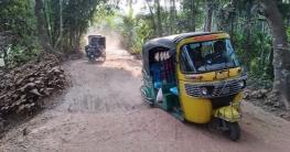রায়পুর-বিরামপুর সড়ক হেলেদুলে চলে গাড়ি