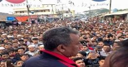 নোয়াখালী-৪ আসনে আওয়ামী লীগের পথসভায় জনতার ঢল