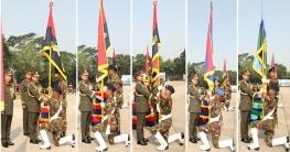 সেনাবাহিনী প্রধান ৫টি ইউনিটকে রেজিমেন্টাল কালার প্রদান করলেন