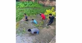 তিন কিলোমিটার খাল পরিষ্কার করলো ছাত্রলীগ