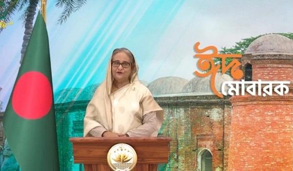 মঙ্গলবার ভিডিও বার্তায় প্রধানমন্ত্রী শেখ হাসিনা।